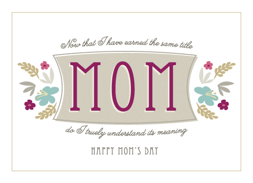 greeting card - The Meaning Of MOM by Denise Anne