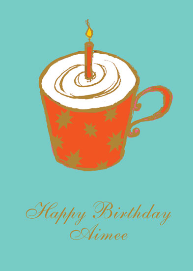 greeting card  birthday coffee or mug cake at minted, Birthday card