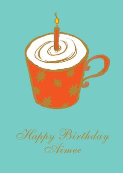 Birthday Coffee or Mug Cake