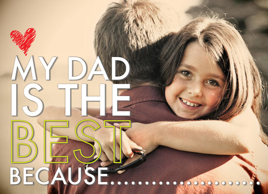 greeting card - My Dad is the Best! by Candace McRae