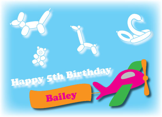 greeting card - Birthday Balloon Clouds by Brittani Mulvaney