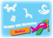 Birthday Balloon Clouds by Brittani Mulvaney