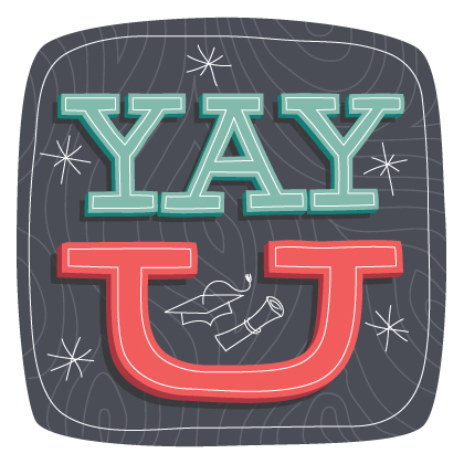 greeting cards - yay u by Guess What Design Studio