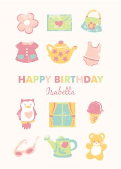 birthday icons pink