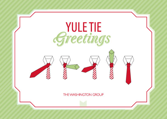 business holiday cards - Yule Tie Greetings by Amy Conover