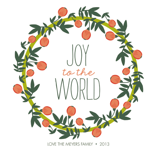 non-photo holiday cards - Joy at Christmas by Haily