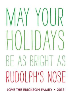 Rudolph's Nose