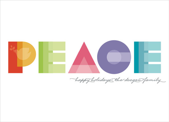 non-photo holiday cards - Deco Peace by Erin Deegan