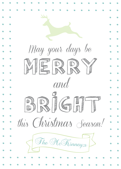 non-photo holiday cards - Custom & Simple Reindeer May Your Days Be Merry & Bright Christmas Card by Ashley McKinney