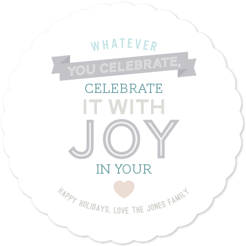 non-photo holiday cards - Celebrate with joy in your heart by Whitney Maass