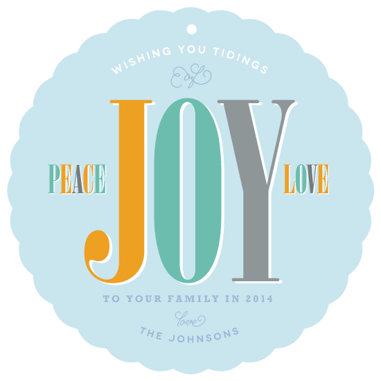 non-photo holiday cards - Joyful Ornament by Leah Shannon
