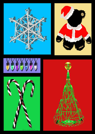 non-photo holiday cards - Christmas Cheer Collage by Damario Fair