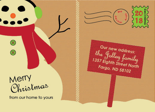 non-photo holiday cards - Snow Place Like Home by Brittani Mulvaney