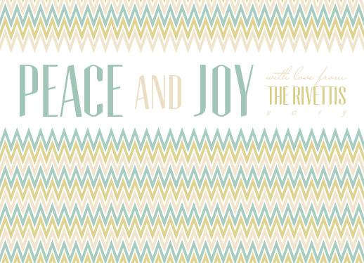 non-photo holiday cards - Joyful Chevron by Marleigh Miller
