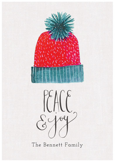 non-photo holiday cards - Holiday Hat by Melissa Kelman