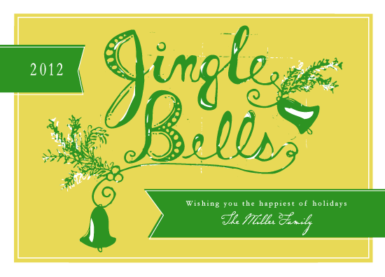 non-photo holiday cards - Jingling Bells by Dreaming Inspirations