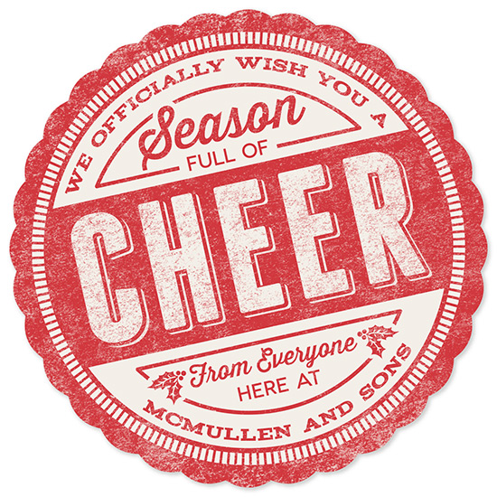 business holiday cards - Cheer Stamp by GeekInk Design