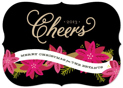 non-photo holiday cards - Bright Holiday Cheer by Sarah Curry