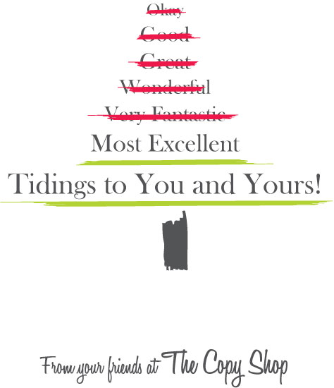 non-photo holiday cards - Most Excellent Tidings by Katie Jackson