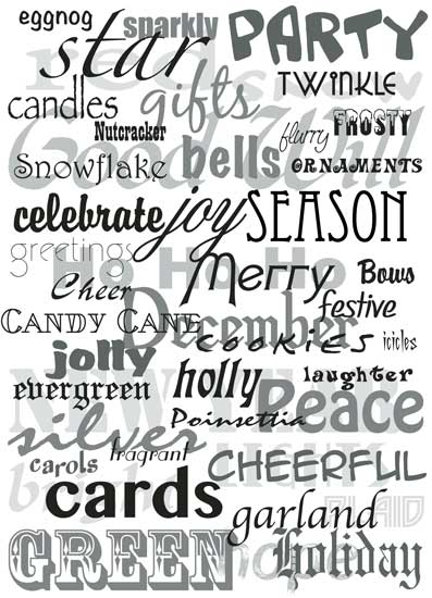 business holiday cards - Seasonal Word Cloud by Kathlyn Starbuck