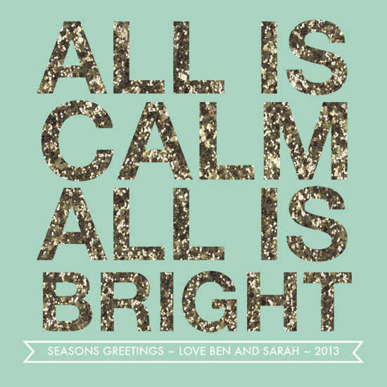 non-photo holiday cards - ALL IS BRIGHT by Haily