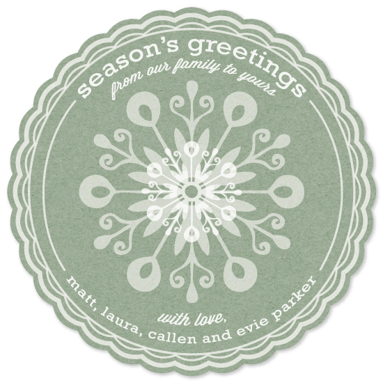 non-photo holiday cards - Sweet Snowflake Greetings by sg designs