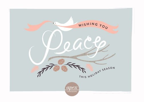 business holiday cards - Peace Dove and Branches by Lori Wemple