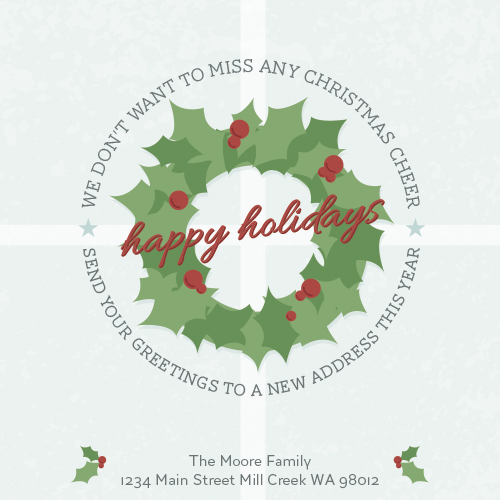 non-photo holiday cards - A New Place This Year by Whitney Maass