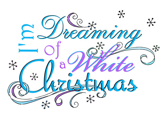 non-photo holiday cards - Dreaming Of A White Christmas by Olivia A Kneibler