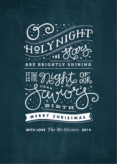 non-photo holiday cards - Brightly Shining by Jennifer Wick