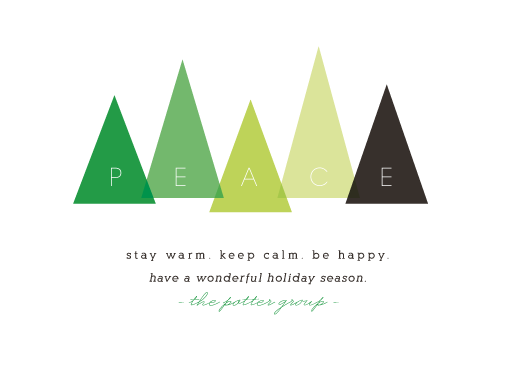business holiday cards - Keep Warm, Stay Calm, Be Happy by Up Up Creative