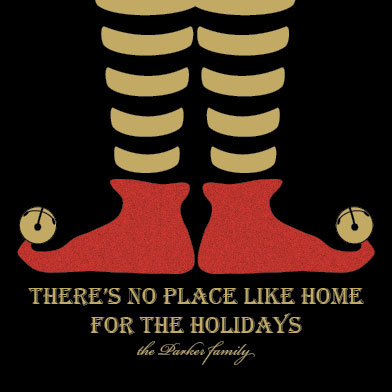 non-photo holiday cards - No Place Like Home by Brittani Mulvaney