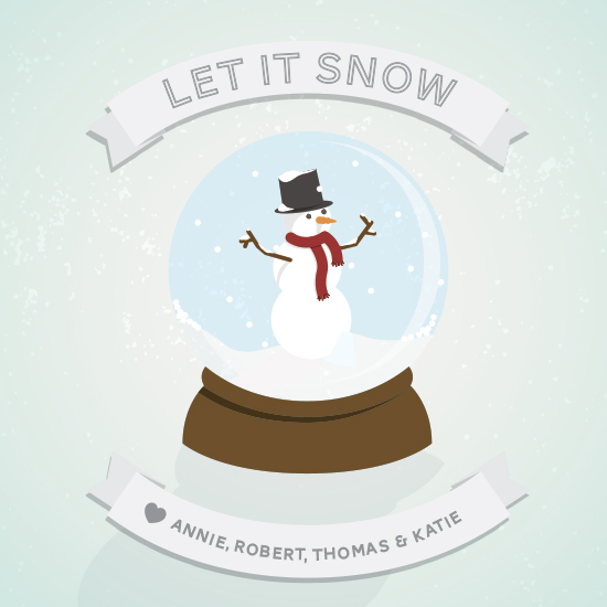 non-photo holiday cards - Let it snow globe by Whitney Maass