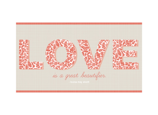 art prints - Love is...pattern by sg designs
