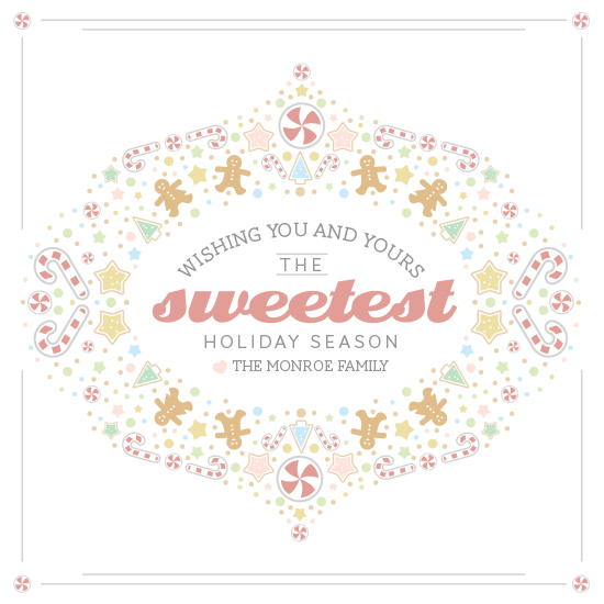 non-photo holiday cards - Sweetest holiday season by Whitney Maass