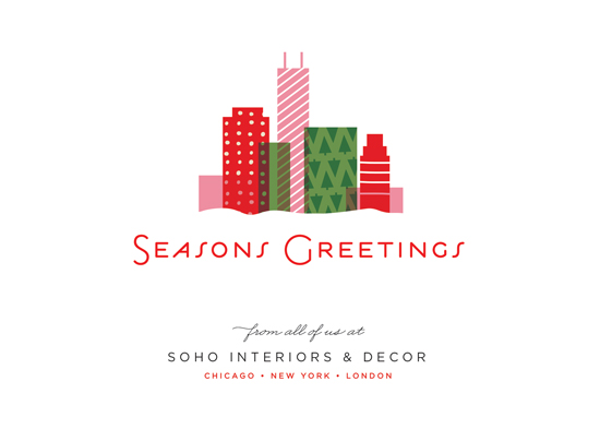 business holiday cards - city gift by Carrie ONeal