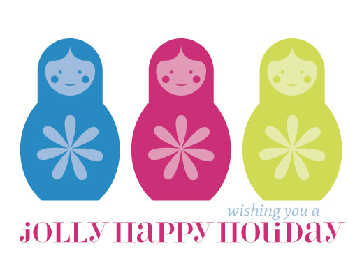 non-photo holiday cards - Jolly Matryoshka by Lilian Wanandy-Perez