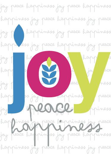 non-photo holiday cards - Joy - Peace - Happiness by Lilian Wanandy-Perez