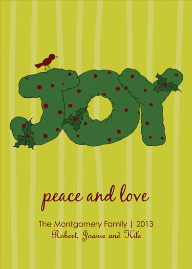 non-photo holiday cards - Wreath of Joy by Stacey Montgomery