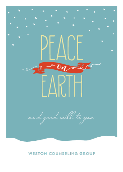 business holiday cards - Peace & Good Will by Social Grace