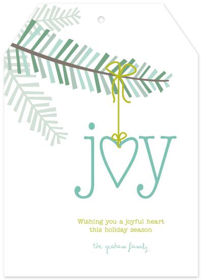 non-photo holiday cards - Joyful Heart by Social Grace