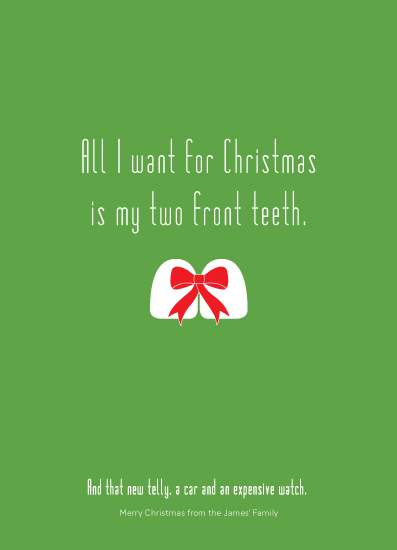 non-photo holiday cards - Two Front Teeth by Mark Wilson