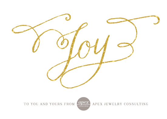 business holiday cards - Glittery Joy by Lehan Veenker
