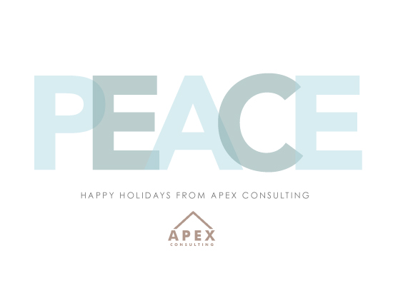 business holiday cards - Modern Peace by Megan Long