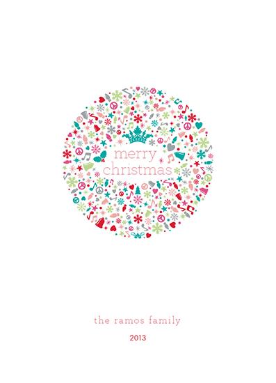 non-photo holiday cards - colors pastel xmas by andrea espinosa