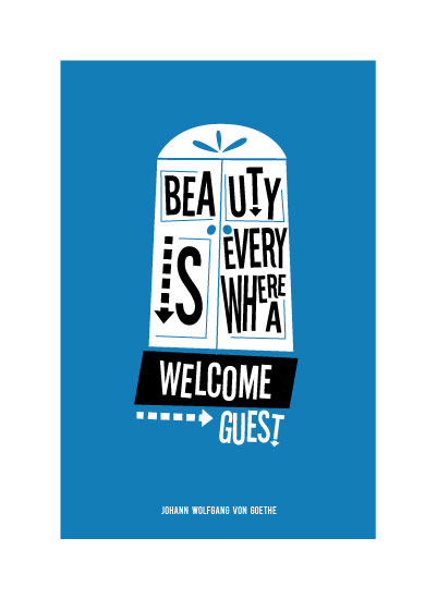 art prints - Beautiful Welcome Mat by Two Pooch Paperie