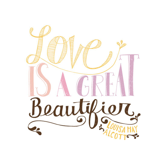 art prints - Hand Lettered Love by Katie Vaz
