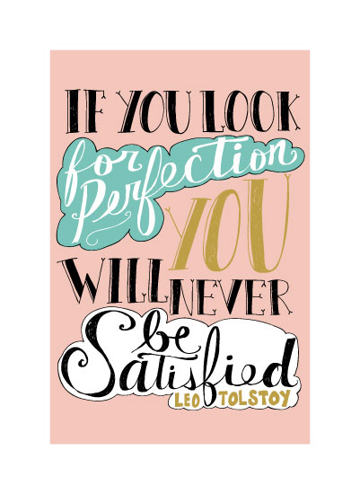 art prints - Perfectly Imperfect Hand Lettering by Katie Vaz