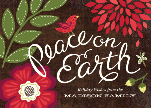 non-photo holiday cards - Garden Song by Griffinbell Paper Co.