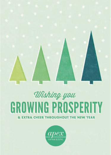 corporate holiday cards - Growing Prosperity by Jessie Steury